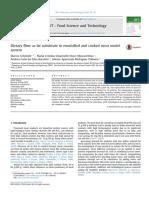 Fibra Dietética Como Sustituto de Grasa en El Sistema Modelo de Carne Emulsionada y Cocida