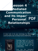Mediated Communication  and Its Impact on  Personal Relationships