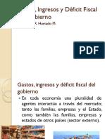 Gastos, Ingresos y Déficit Fiscal Del Gobierno