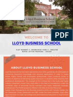 Top Business School in Delhi NCR and Noida Lloyd Business School