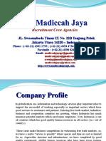 Company Profile Pt. Madiccah Jaya