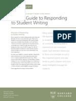 Esponding to Student Writing