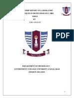 Internship Report on Laboratory 12