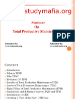 MBA Total Productive Maintenance PPT