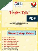 Health Talk First Aid Luka & Perdarahan