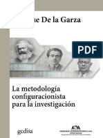 Metodologia configuracionista de la investigación