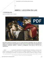 Giorgio Agamben _ Lección en Las Tinieblas _ Artillería Inmanente