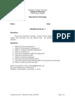 Activity 1 in Edtech