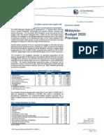 Economy Budget 2020 Preview