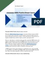 Metastatic HER2 Postive Breast Cancer