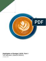 My Tax Espresso Budget 2020 Highlights Part 1