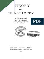 Theory of Elasticity Timoshenko J N Goodier