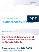 prevention occess relations in dyalisis patientsf transmission non a