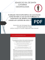 Revisão literária de artigo - Avaliação histomorfométrica da associação entre biovidro e osso bovino liofilizado no tratamento de defeitos ósseos críticos criados em calvária de ratos