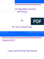 Advanced Algorithms Analysis and Design - CS702 Power Point Slides Lecture 03.ppt