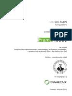 Regulamin - I Kategoria - semestr IX, listopad