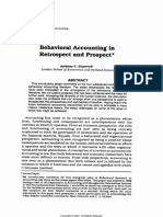behavioral accounting in reprospect dan prospect