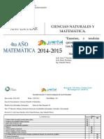 planificacion matematica 4to