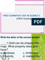 Sci Sum First Grading No. 1