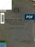 Daiches Samuel Babylonian Oil Magic in the Talmud and in the Later Jewish Literature 1913