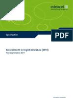 IGCSE2009 English Literature (4ET0) Specification