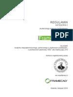 Regulamin - II Kategoria - semestr VII, listopad