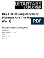 SKY FULL OF SONG (VER. 2) Guitar Chords by Florence And The Machine | Guitar Chords Explorer