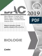 BAC 2019 Biologie