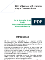 SRB With Reference to Marketing of Consumer Goods - Dr. N. Rokendro Singh