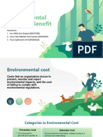 Enviromental Cost and Benefit