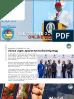 DSG Online Newsletter. Sunday October 20th, 2019 #15