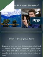 What is Descriptive Text bahan ajar fix.pptx