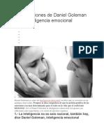 Ocho Lecciones de Daniel Goleman Sobre Inteligencia Emocional