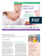 Baby Food Report