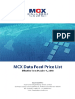Mcx Data Feed Price List Oct 1 2018