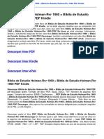Biblia de Estudio Holman Rvr 1960 Biblia de Estudio Holman Rvr 1960 1433601788