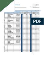Arif Student Attendence Sheet 2019 (October)