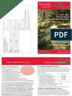 Rutgers Professional Landscape Management Classes Catalog 2010-2011