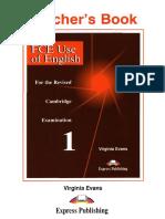 FCE Use of English 1 Teacher's Book (Virginia Evans)