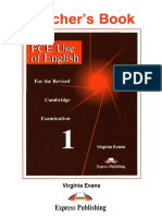 FCE Use of English 1 Teacher's Book (Virginia Evans)
