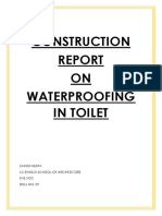 Waterproofing in Toilet