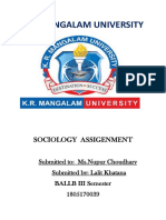 Sociology Assigenment