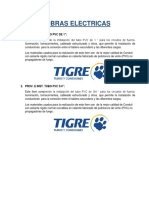 Especificaciones tecnicas