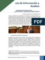 NIA 19 2018 Presupuesto Público Más Descentralizado 1