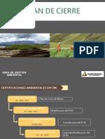 SETIEMBRE 2019_ Plan de Cierre - Gestión de Los Trabajos de Cierre de Mina ULT