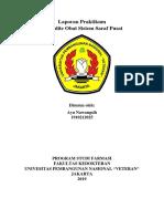 Ayu Nawangsih (1910212025) Laporan Akhir Praktikum Spesialite Sistem Saraf Pusat