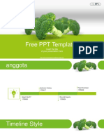 Fresh Green Broccoli PowerPoint Templates