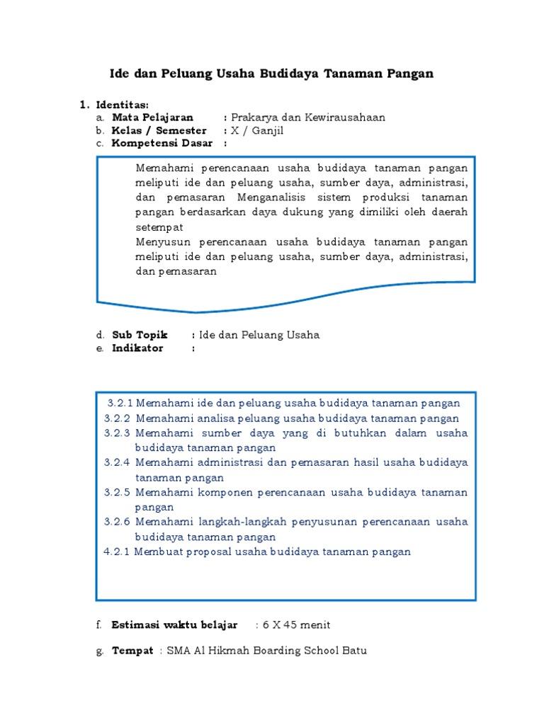 Modul 2 Ide Dan Peluang Usaha Budidaya Tanaman Pangan