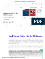 Real Estate History in the Philippines.docx _ Real Estate Broker _ Industries