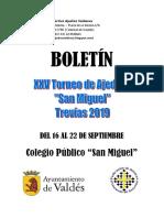 Boletín XXV San Miguel - Año 2019